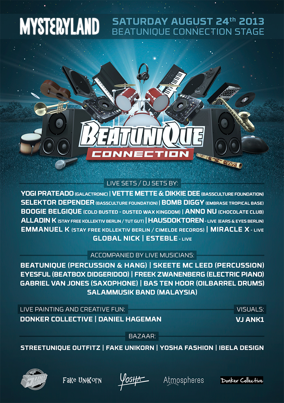 BeatuniQue-Connection-Mysteryland_flyer